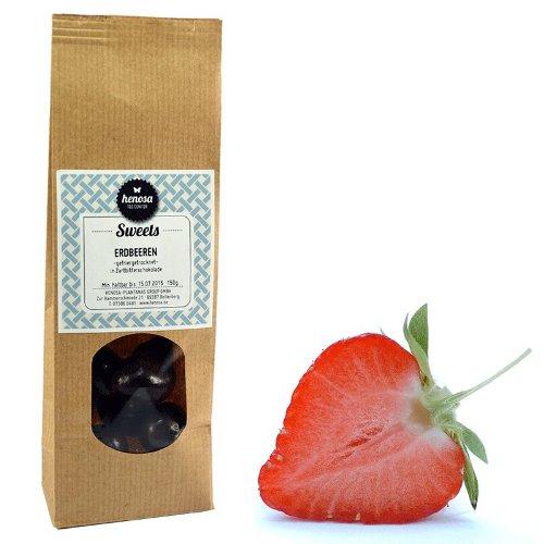Henosa Gefriergetrocknete Erdbeeren Zartbitter