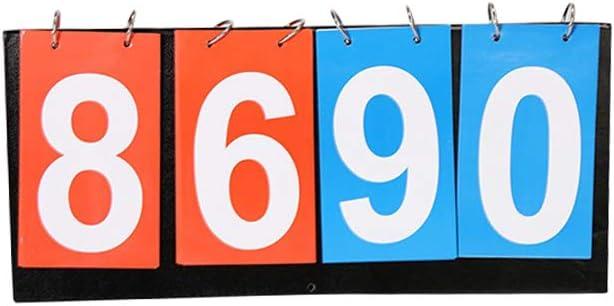 KEBY - Tablero de puntuación portátil para Jugar al fútbol, Tenis de Mesa, Baloncesto, Baloncesto, etc.