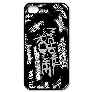 Cool Custombox My Chemical Romance Iphone 4s Case Plastic Hard Phone Case for Iphone 4s-iPhone 4-DF02106
