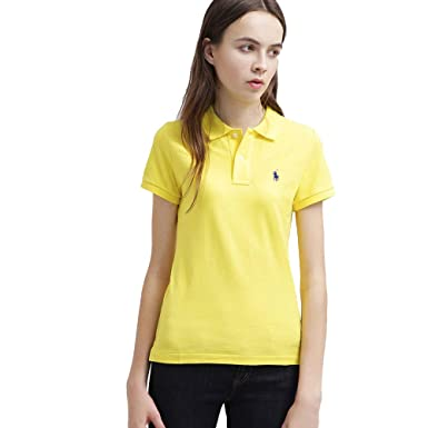 Ralph Lauren Polo pour Femme Small Pony Skinny Fit (XS, Jaune ... 45834d19ed26