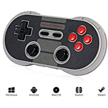 PinPle 8Bitdo Wireless Controller Bluetooth Classic Gamepad for Windows / Android / MacOS / Steam / Nintendo Switch (NES30 Pro)