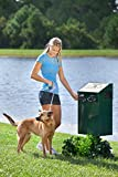 DOGIPOT 1001-2 DOGVALET Includes Litter Bag Rolls and Liner Trash Bags, Aluminum, Forest Green