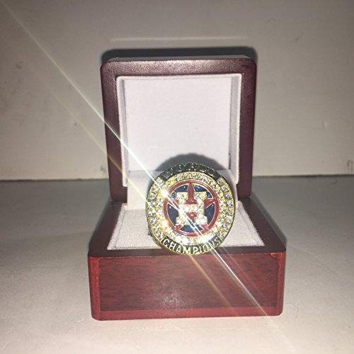 2017 Jose Altuve #27 Houston Astros High Quality Replica 2017 MLB World Series Championship Ring Size 10-Gold Colored Red Logo USA SHIPPING - Houston Astro Stadium