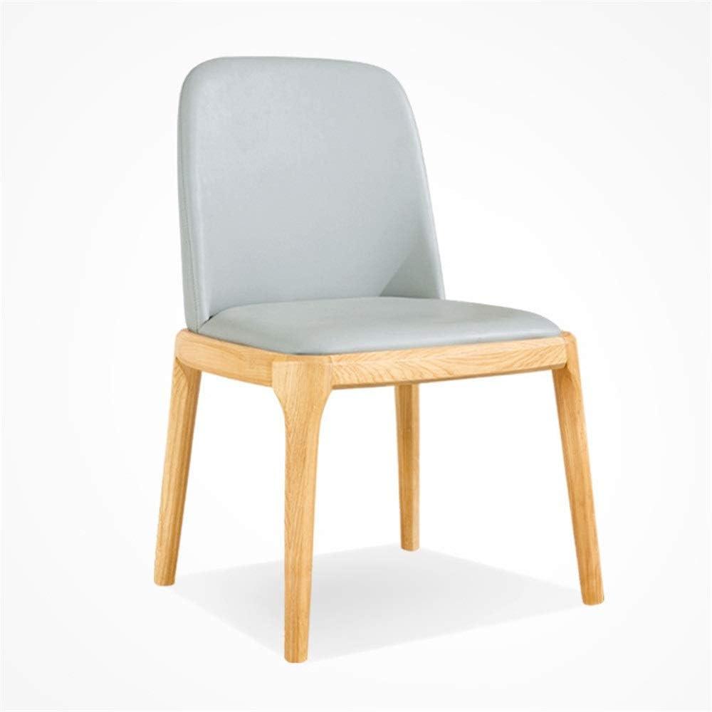 木製チェア ホームオフィスで使用するためのパッドを入れられた座席が付いているオフィスの椅子の純木の足 家具モダン木製椅子 (色 : Cotton backrest, サイズ : 58*47*87cm)