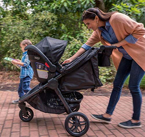 51vXY5wUcvL - Britax B-Free Travel System With B-Safe Ultra Infant Car Seat - Birth To 65 Pounds | All Terrain Tires + Adjustable Handlebar + Extra Storage With Front Access + One Hand, Easy Fold, Vibe
