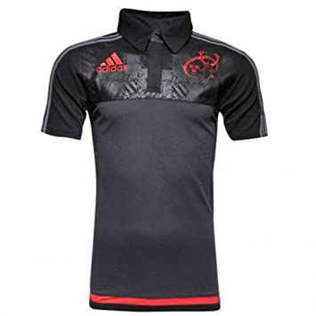 Camiseta de rugby de Munster de 2015 – 2016 de Adidas Rugby Players Media. Camiseta de polo de color gris, unisex, negro, small: Amazon.es: Deportes y aire ...