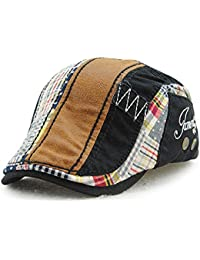 Men Newsboy Hats Cotton Beret Cap Snaps Adjustable Driving Flat Hats