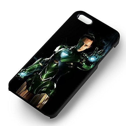 Unique Loki With Iron Man Suit pour Coque Iphone 5 or Coque Iphone 5S or Coque Iphone 5SE Case (Noir Boîtier en plastique dur) M2T2CD