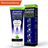 New REMINERALIZING Activated Charcoal Toothpaste - Enamel Safe & Fluoride Free Natural Teeth Whitening with Organic Neem Oil and Mineralizing Calcium & Magnesium Complex - Travel Size 3.4 oz