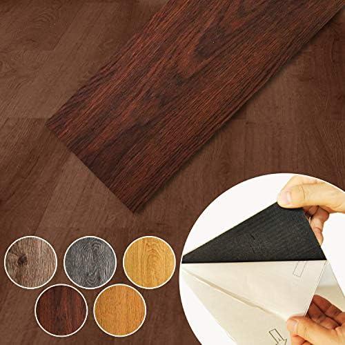 PIU STYLE 貼るだけ簡単DIY シール式木目調 PVC フローリングタイル(ビニル床タイル) 36枚入 約畳3帖分(ODB) フロアタイル タイルシート
