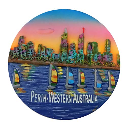 Perth Western Australia 3D Refrigerator Fridge Magnet Travel City Souvenir Collection Kitchen Decoration White Board Sticker Resin]()