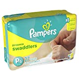 Pampers Swaddlers Size Preemie Mini Pack 80 Count (4 Packs of 20 = 80 Ct)