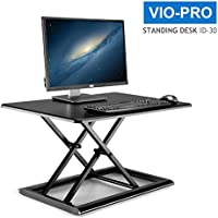 VIO-PRO Height adjustable Riser Desk - multifunctional office table/computer desk/drawing board flexible height settings Standing Desk 30 x 20 inches (black)