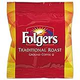 Folgers Ground Coffee Fraction Packs, Traditional Roast, 2oz, 42/Carton