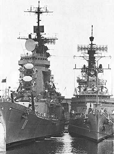 Home Comforts Laminated Poster The U.S. Navy Guided Missile Cruisers USS Chicago (CG-11) and USS Oklahoma City (CLG-5) are moored t Vivid Imagery Poster Print 24 x 36