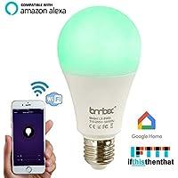 Wifi Smart Led Light bulb,Compatible With Alexa Google...