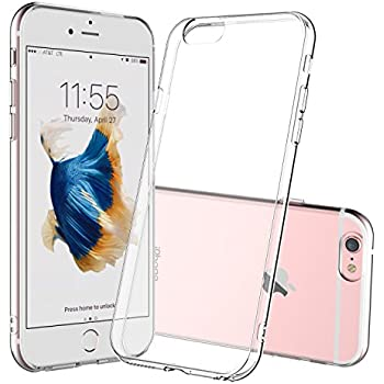 """iPhone 6 Plus Case, Shamo's Thin Case Cover TPU Rubber Gel 5.5"""", Transparent Clear Back Case, Soft Silicone, Shamo's [Compatible with iPhone 6 plus and iPhone 6s Plus] (Clear)"""