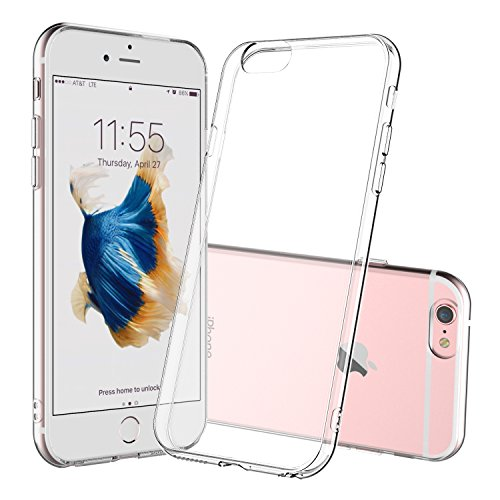 iPhone 6 Case, Shamo's Apple iPhone 6s Clear Case / 6 Case Cover TPU Rubber Gel Shock-Absorption Bumper, Anti-Scratch Transparent Back Silicone iPhone 6 iPhone 6S 4.7 inch (Clear)
