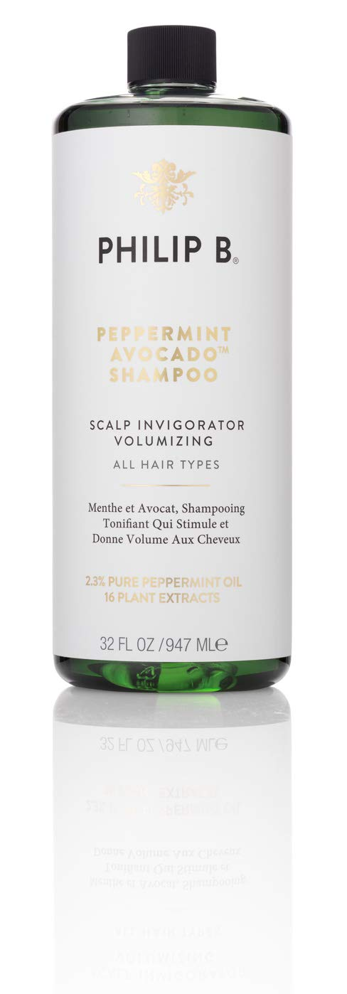 PHILIP B Volumizing and Clarifying Shampoo, Peppermint/Avocado, 32 Fl Oz by PHILIP B (Image #1)