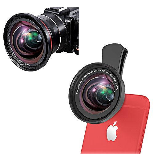 2 in 1 Camera Lens kit, 72MM 0.39X Wide Angle Lens + 12x Marco Lens for iPhone Xs X 8 7 6 6s Plus Samsung Smartphones Tablets & Camcorders Camera