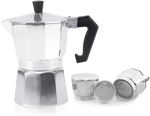 Cafetera italiana de aluminio 3/6/9/12 tazas de café o moca para ...