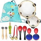 kilofly Kids Mini Band Musical Instruments Rhythm Toys Value Pack [Set of 12]