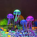 Glowing Jellyfish,Govine 4pcs Glowing Jellyfish For Aquarium Fish Tank Medium