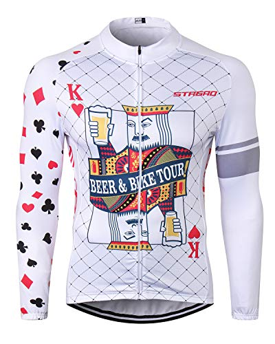 - MR Strgao Men's Cycling Winter Thermal Jacket Windproof Long Sleeves Bike Jersey Bicycle Coat Size M
