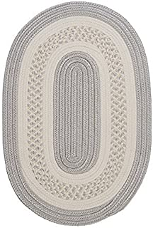 product image for Colonial Mills Floor Decorative Crescent - Silver 2'x8' Oval Rug