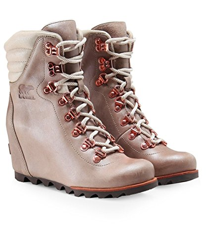 Sorel Women's Conquest Wedge Holiday Booties, Beach/Fawn, 9 B(M) US by SOREL