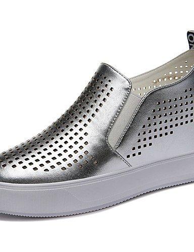 ZQ Zapatos de mujer - Tacón Cuña - Creepers - Tacones - Oficina y Trabajo / Vestido / Casual / Deporte / Fiesta y Noche - Purpurina -Negro / , silver-us8 / eu39 / uk6 / cn39 , silver-us8 / eu39 / uk6 black-us5 / eu35 / uk3 / cn34