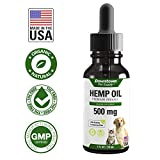 Hemp Oil for Dogs and Cats - 100% Organic Pure Dog/Cat Hemp Oil for Stress, Anxiety, Calming Support - Natural Omega 3 and Supports Hip & Join Health for Pets - 1 OZ (2 Pack)