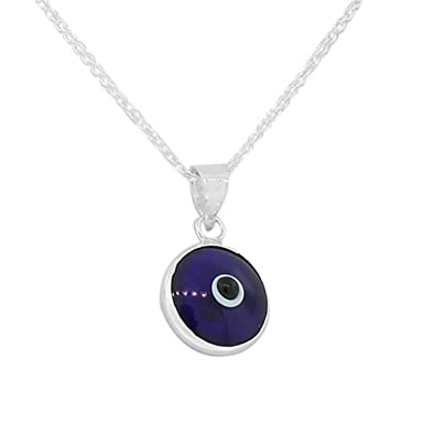 Other Fine Necklaces, Pendants Evil Eye Lucky Eye Nazar Pendant 925 Sterling Silver Dainty NO CHAIN Fine Necklaces & Pendants
