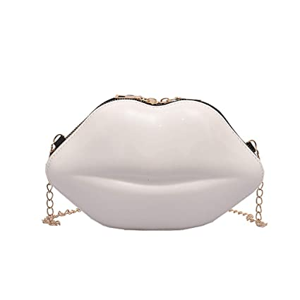 92328887e80d Women Chain Versatile Messenger Bag Fashion Lips Cute Shoulder Bag