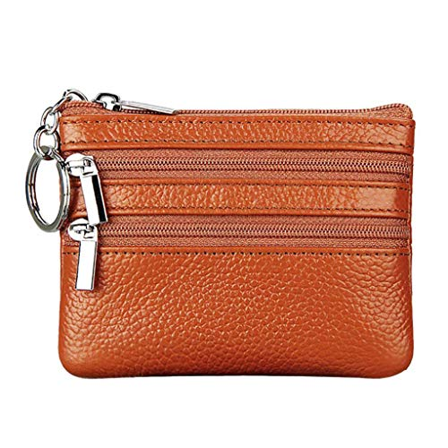 Womens Mini Wallet with Zipper, Clearance Sale Litetao Coin Money Bags PU Leather Wallets ID Card Case Gift (Brown) ()
