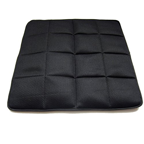 DGQ Natural Bamboo Charcoal Non-Slip Breathable Deodorizer Seat Cushion 17.7 17.7- Home Office Car Chair Cover Pad Mat (Pack of 1,Black)