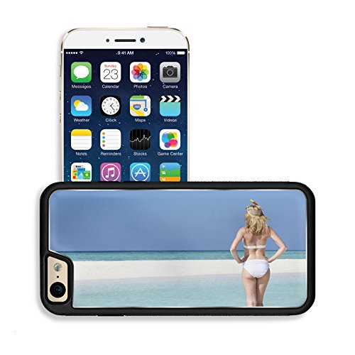 Luxlady Premium Apple iPhone 6 iPhone 6S Aluminium Snap Case Woman Enjoying Beach Holiday IMAGE 19530078