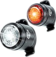Cycle Torch Bolt Combo - USB Rechargeable Bike Light Front and Back| Safety Bicycle LED Headlight & Rear T
