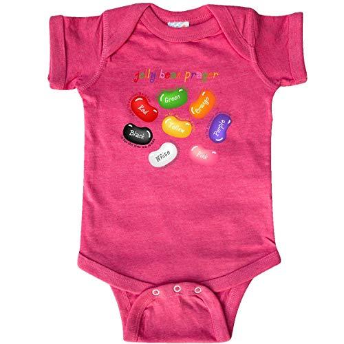 inktastic Jelly Bean Prayer Infant Creeper Newborn Retro Heather Pink]()