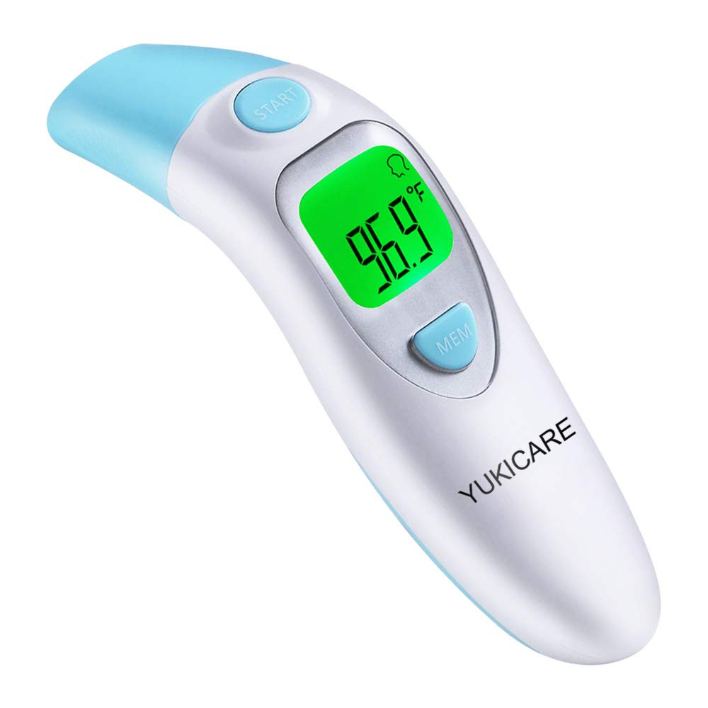 Ear and Forehead Baby Thermometer,YUKICARE Infrared Digital Clinical Medical Thermometers -FDA and CE Approved Professional Suitable for Child, Infants, Adults, Objects and Ambient