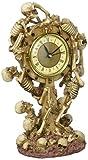 Design Toscano Skeleton Crew Sculptural Mantle Clock, Multi/Color