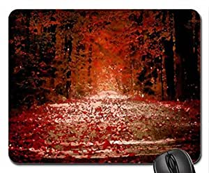 Autumn Mouse Pad, Mousepad (Forests Mouse Pad, Watercolor style)