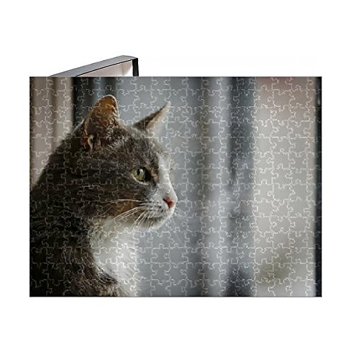 - Media Storehouse 252 Piece Puzzle of Gray and White cat Looking Out of a Window, Portrait, Germany (12526973)