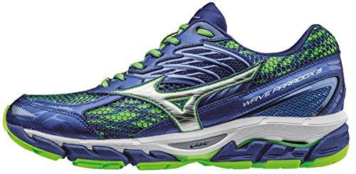 Mizuno Wave Enigma 6 (W), Zapatillas de Running Hombre Azul (Surf The Web/silver/green Gecko)
