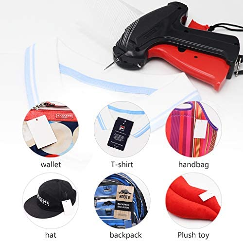 """CINOTON Clothes Tagging Gun, Price Tag Gun with 1500 pcs 2"""" Standard Fasteners, 6 Needles,10 pcs Labels, Tag Gun for Clothing Fit Yard Sale/Flea Market and Decorate 4"""