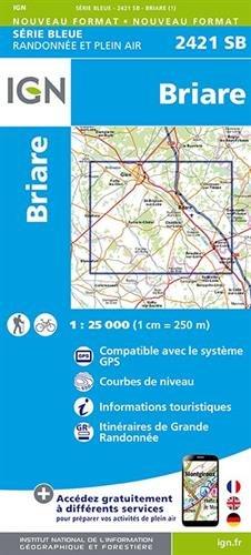 Briare : 2421sb Carte – Carte pliée, 3 février 2015 Collectif Ign 2758534223 Karten / Stadtpläne / Europa