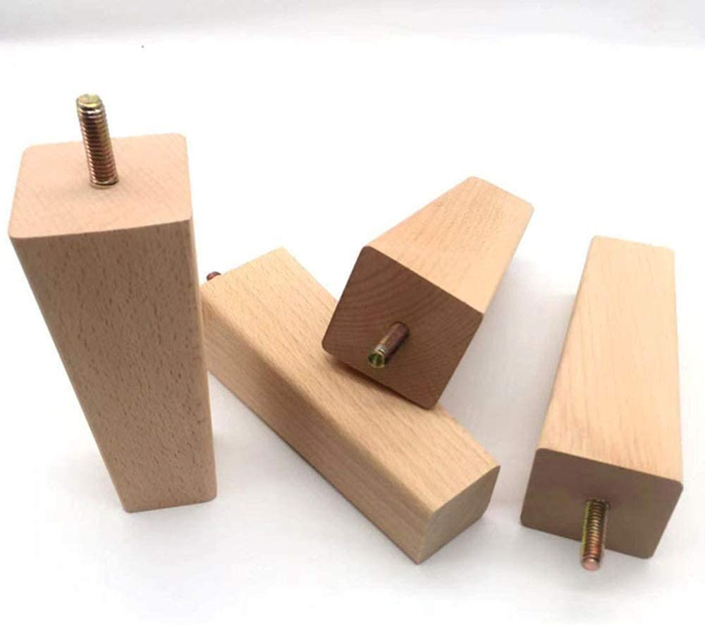 5 4Pcs 12 3 cm Furniture Legs Solid Square Wood Leg Wooden Reliable Replacement Universal Parts Right Angle Table Feet Home DIY Tool for Tables Chairs