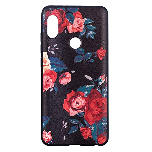 Funda para Xiaomi Redmi Note 5,Grandcaser Ultra Fina Flexible Duradera Protectora Funda Estuche de Silicona TPU Gel Original Goma Grip Bumper Design Carcasa - Mariposa grande Rosa mensual