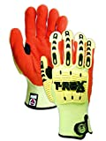 Magid Safety TRX540L T-REX Cut Level 4 Impact Gloves, Large, Yellow/Orange (One Pair)