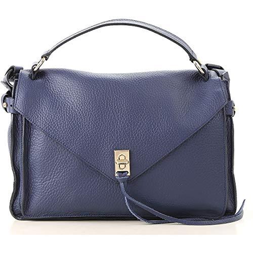 Sac porté épaule pour femmes Rebecca Minkoff Hu18idnm13483 Bleu Cuir